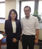 辰巳と高橋政代先生講演前写真