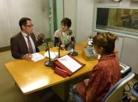 辰巳、NHKラジオ収録様子